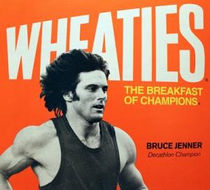 Bruce Jenner on Wheaties Box